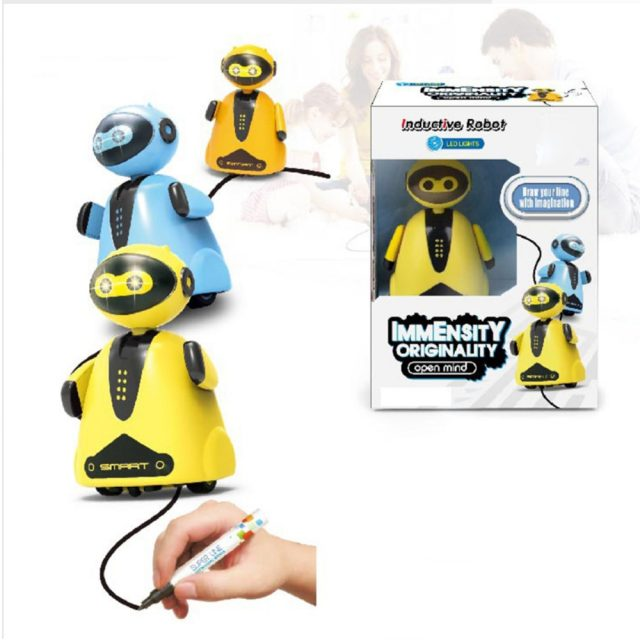 Creative Original Inductive electric robot Car Line Follower Magic Pen Toy Follow Any Line You Draw Xmas Gifts Educational toy